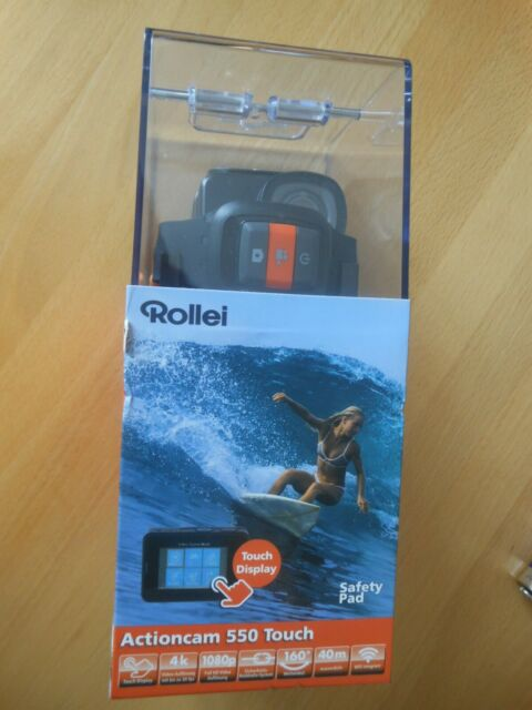 Neu & OVP! Rollei Actioncam 550 Touch mit Touchscreen, 4k Video, wasserdicht 40m