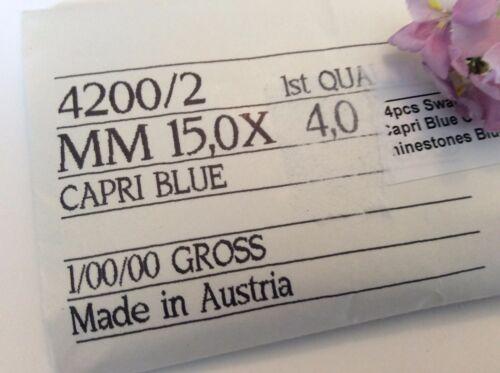 Swarovski #4200//2 Navette rhinestones Pack 12 Foiled15x4mm  REPAIR Colour Option