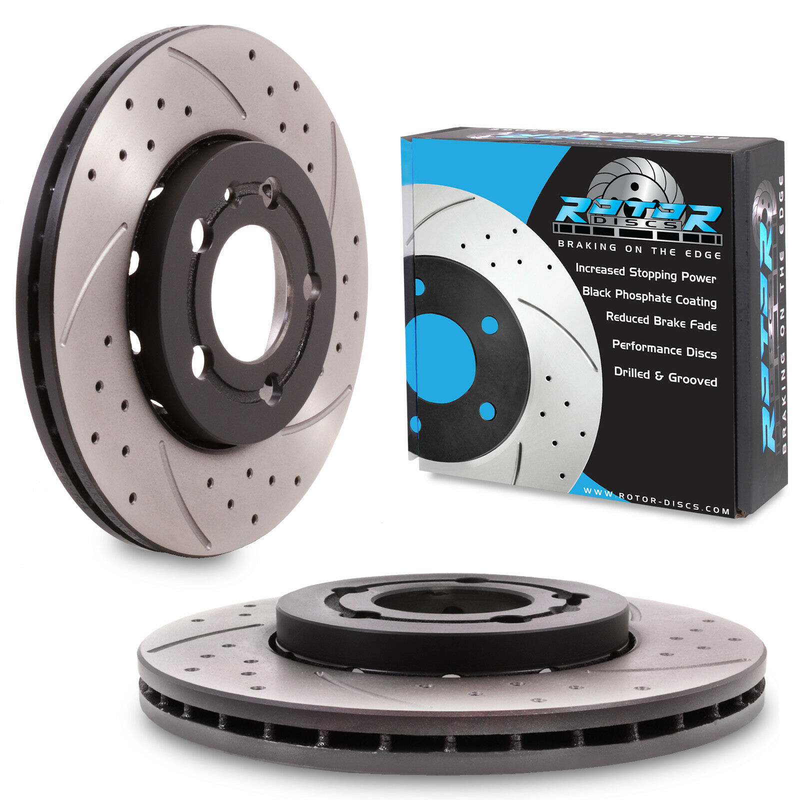 8P1 2.0 TDI 2003-On Drilled /& Grooved REAR Brake Discs AUDI A3