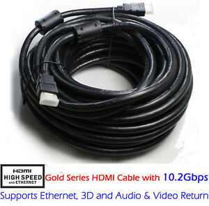 HDMI-Cable-4K-50FT-66FT-30FT-1080p-3D-High-Speed-w-Ethernet-ARC-24AWG-Gold-FHD