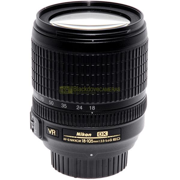 Audacieux Nikon Af-s Nikkor 18/105mm F3,5-5,6 G Ed Dx Vr Obiettivo Per Fotocamere Digitali
