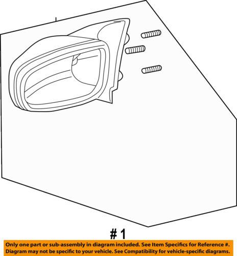 Pontiac GM OEM Grand Prix Door Side Rear View Mirror-Housing Right 15796389