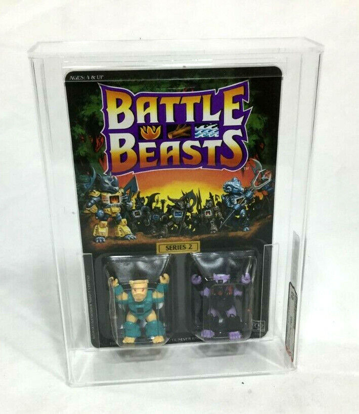 1987 Hasbro Battle Beast Series 2 Sabre Sword Tiger Pew  Skunk MOC autoded AFA 85  tutto in alta qualità e prezzo basso