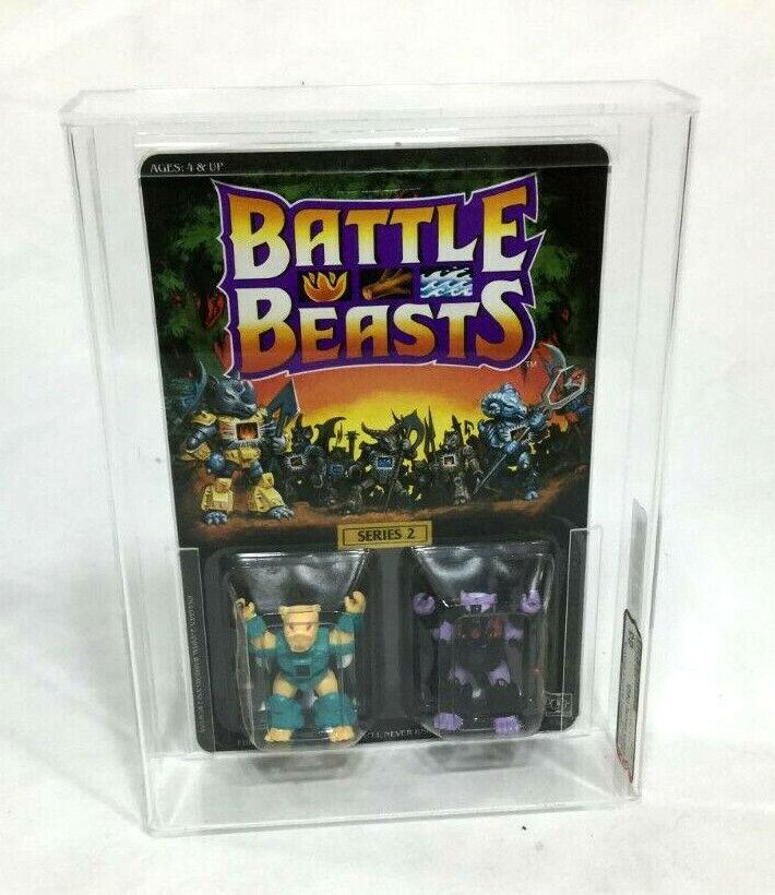 1987 Hasbro slåss Beast Series 2 Sabre Sword Tiger Pew Skunk MOC bilded AFA 85
