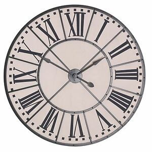 Large-105cm-Vintage-Metal-Frame-Wall-Clock