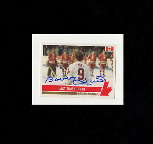 BOBBY-HULL-SIGNED-AUTOGRAPHED-1976-CANADA-CUP-HOCKEY-CARD-178-WITH-COA