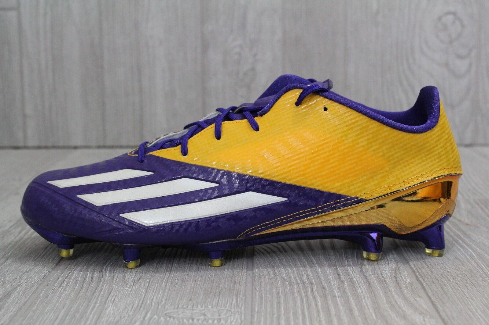30 New Adidas Mens 5 Star 5.0 Purple Gold Lakers Football Cleats AQ7175 12 12.5