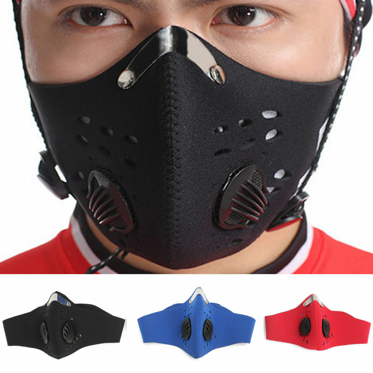 Outdoor Sports Bike Face Mask Filter Air Anti-Pollution