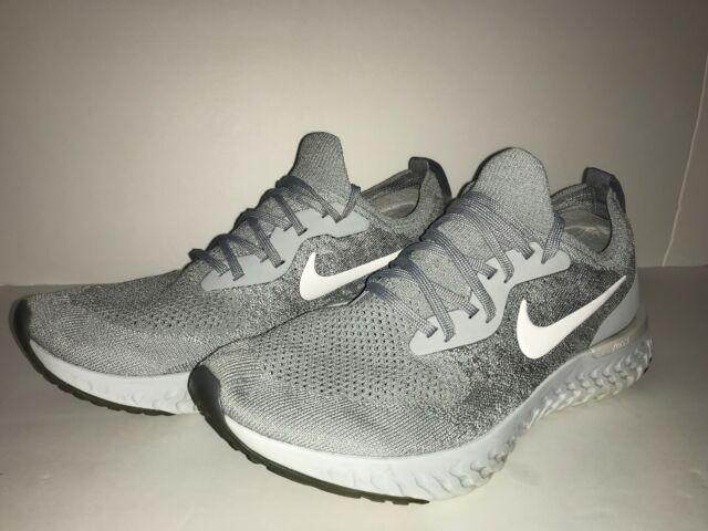 2cd0fc53ca6f Nike Epic React Flyknit Wolf Grey White Men Running Shoes SNEAKERS Aq0067- 002 10.5