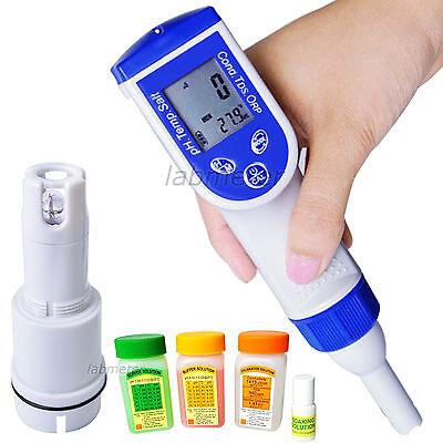 6-in-1 Combo Digital Pen pH EC TDS Salinity ppt Temp Meter Water Quality Tester