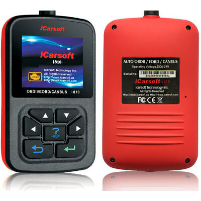 iCarsoft i810 OBD2 Diagnosegerät EOBD Handscanner Motor Getriebe Live Daten uvm.