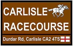 HORSE RACING - ROAD SIGNS (CARLISLE) - SOUVENIR NOVELTY FRIDGE MAGNET - NEW
