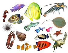 Rockabilly Guitar Cool Fish Tank Waterslide Decals #23