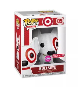 Funko-Pop-Ad-Icons-Target-Exclusive-Flocked-Bullseye-SDCC-damaged