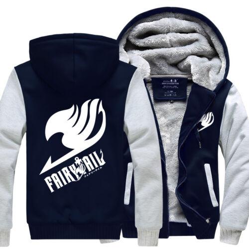 Anime Cosplay Fairy Tail Luminous Jacket Sweatshirts Thicken warm Hoodie Coat
