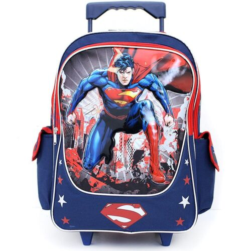 """Man of Steel 16/"""" inches Large Rolling Backpack Superman BRAND NEW Licensed"""