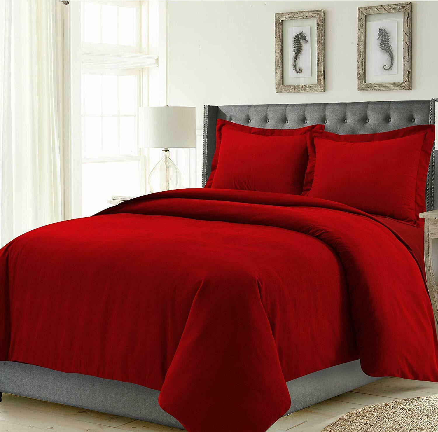 Best Quality Bedding Items rot Solid Egyptian Cotton 1000 Thread Count All Größes
