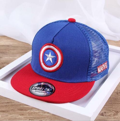 Spiderman Cap Summer kids Sun Hat Captain America Mesh Snapback Caps for Boys
