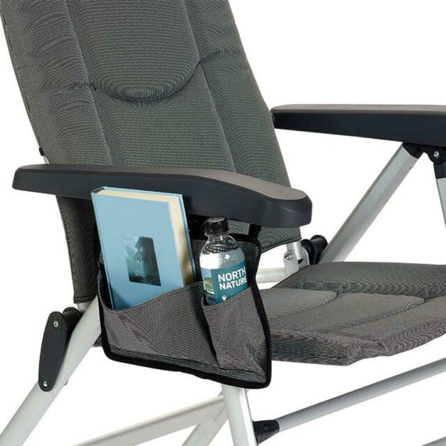 Isabella SIDE POCKET for Chair Camping and Caravan Accessories DARK GREY