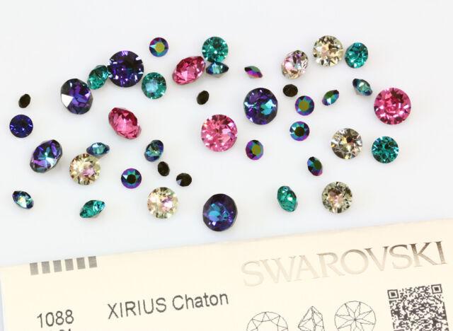 Genuine SWAROVSKI 1088 XIRIUS Chaton Round Crystals New Colors
