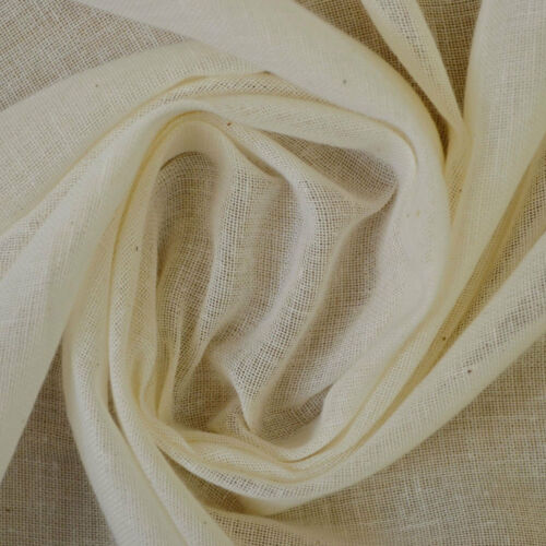 Ivoire ignifuge en coton égyptien mousseline tissu