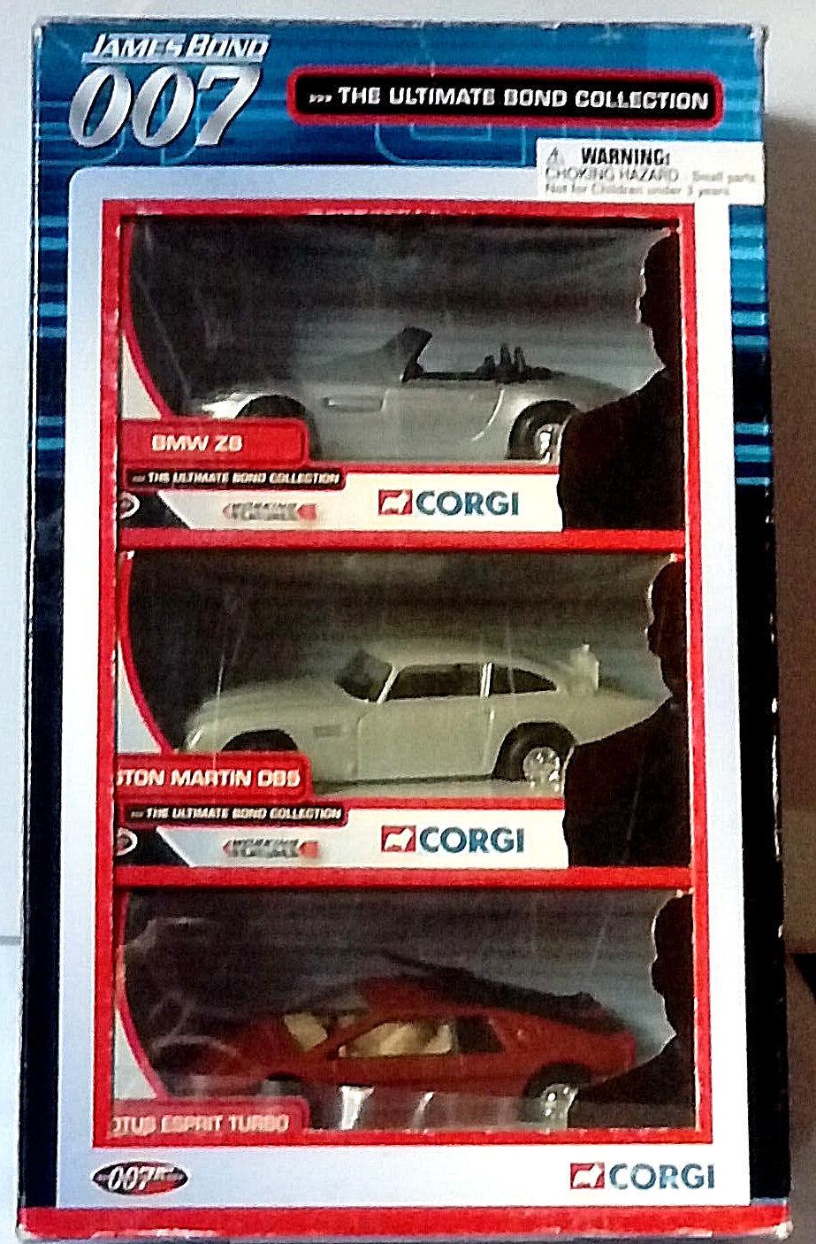 Corgi, The Ultimate Bond Collection BMW Z8, Aston Martin DB5, Lotus Esprit Turbo