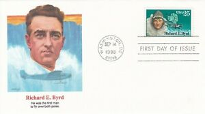 ANT10006-FDC-USA-1988-Antarctica-Richard-E-Byrd-he-was-the-first-man-to-fly