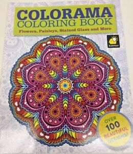 It's just a picture of Insane Colorama Coloring Book Flowers Paisleys Stained Glass And More