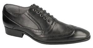 Noir Cuir Uk Hommes À Tailles 12 Malvern Chaussures A2129 7 Lacets Tq4x7HwxS