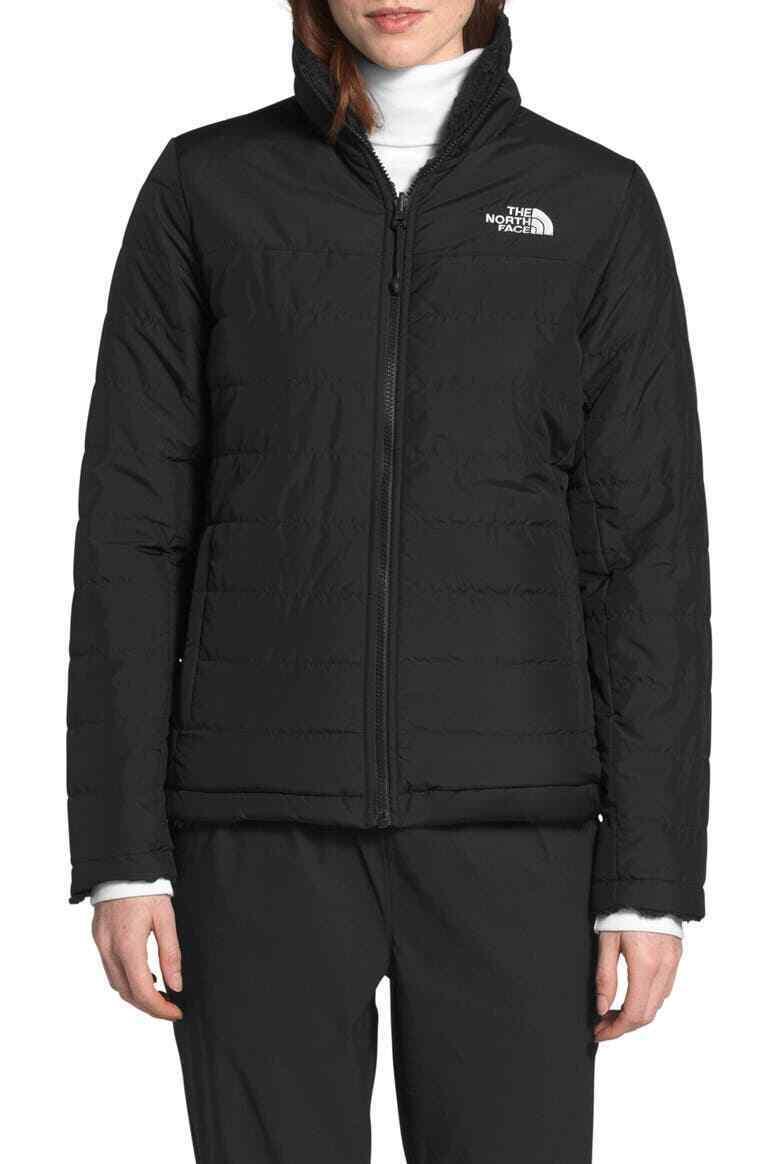 The North Face Womens BLACK Mossbud REVERSIBLE Jacket COAT L 12 14 XL 16 18