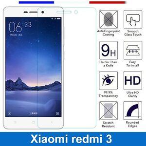 Lot-Pack-Film-Verre-Trempe-Protecteur-Xiaomi-Redmi-3s-Redmi-3x-Redmi-3-Pro