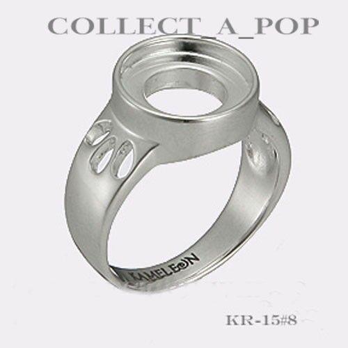 Authentic Kameleon Sterling Silver Ring découpé aux épaules taille 5 KR015#5 RETIRED