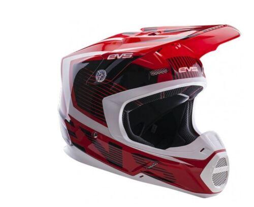 EVS T5 Vector Red Black Helmet MX Moto Motocross Dirtbike ATV Mens H16T5V-RBK