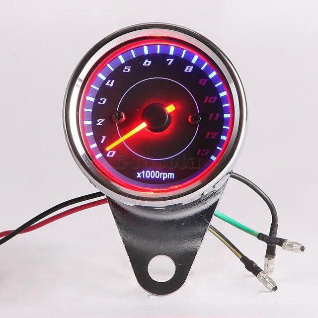 Night Light Tachometer Gauge for Suzuki Sports Standard Bike Cruiser Touring