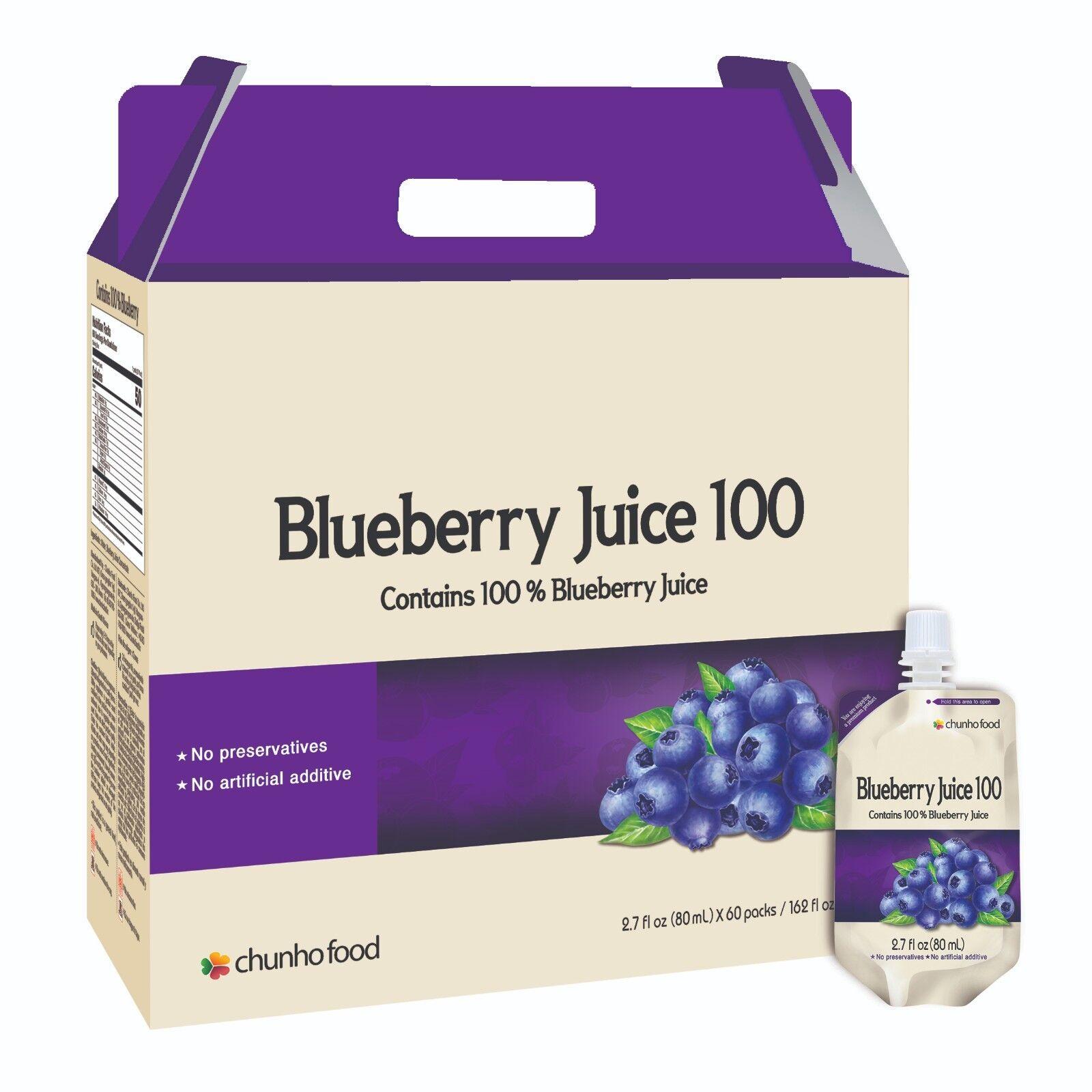 Chunho BlauBerry Juice 100 Relieve Eye Fatigue and Restore Eye Sight
