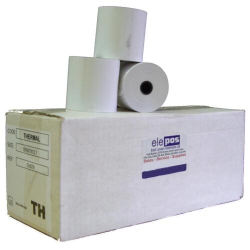 100 Rolls 5 Boxes Thermal Rolls 57 x 57 x 12.7 57mm x 57mm Approximately