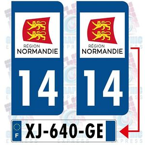 14 calvados 2 stickers plaque immatriculation sticker autocollant normandie ebay. Black Bedroom Furniture Sets. Home Design Ideas