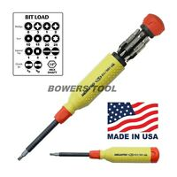 """Megapro 151RV Alloy Steel Hex RV Multi Bit 15 in 1 Screwdriver 1-1 4"""" Nut Tools and Accessories"""