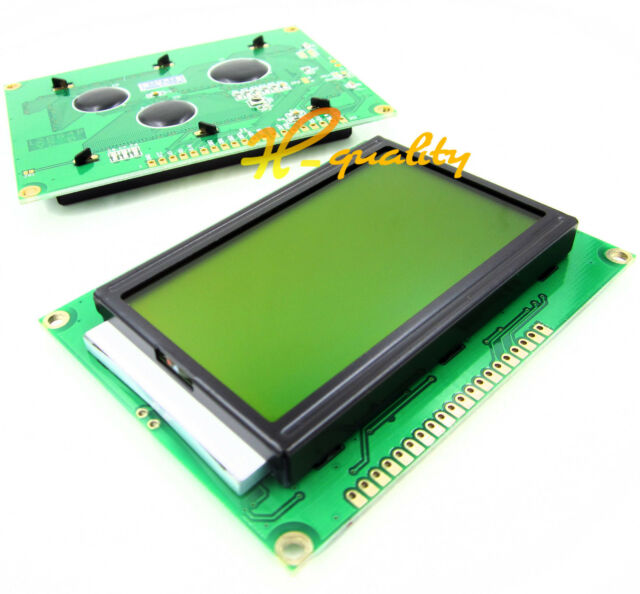 ST7920 5V 12864 128x64 Dots Graphic LCD Yellow green Backlight for EasyPIC5