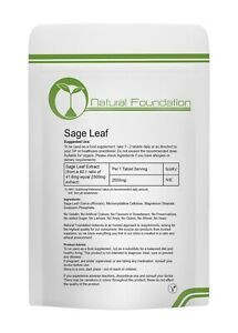 Sage-Leaf-Tablet-2500mg-ad-alta-resistenza-standardizzato-Tablet-Supporto-menopausa