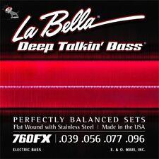 La Bella 760FX Deep Talkin Bass Guitar Strings Flat Wound Extra Light 39-96