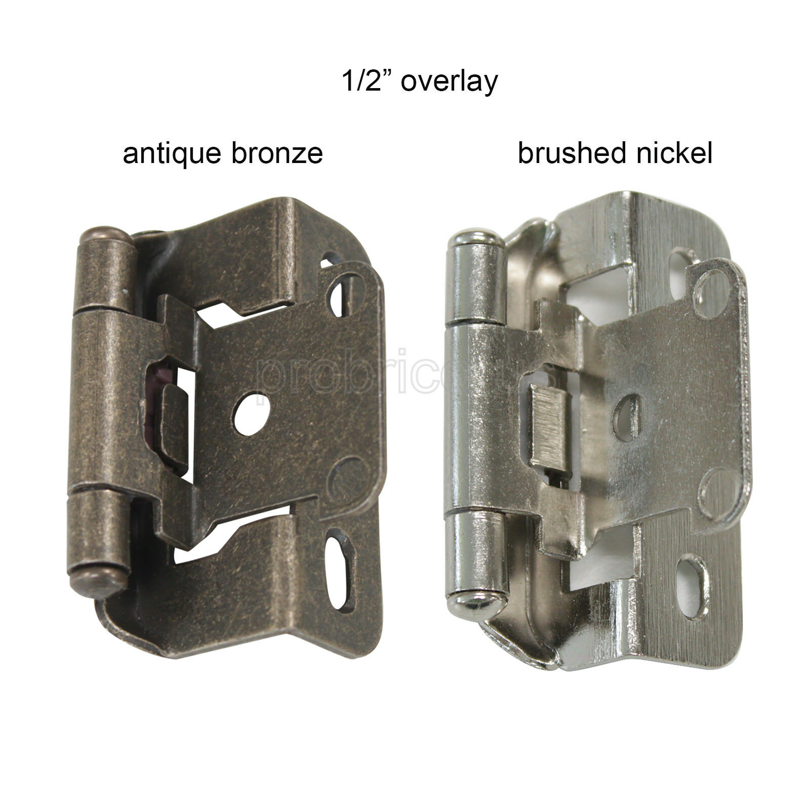 """2 Self Closing Concealed Cabinet Hinge 1//2/"""" Overlay Antique Brass Youngdale #65"""