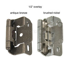 Hickory Hardware White P2710F-W2 1//2 Inch Overlay Wrap Self Close Hinge 4pc