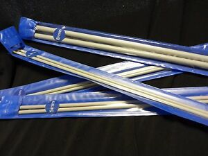 32 cm CARBONIZED BAMBOO KNITTING NEEDLES 4.0 mm  ACHING HANDS ARTHRITIS COMFORT