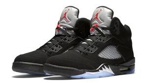 Nike-Air-Jordan-Retro-5-V-Black-Metallic-OG-Size-7-18-Red-Silver-845035-003