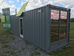 Shipping container office house 40 ft ebay - 40ft shipping container home ...