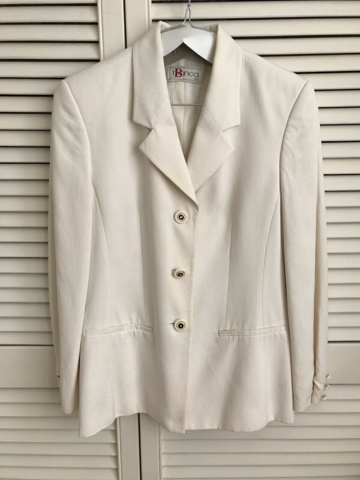 Bianca jacket. 36. white ivory. beautiful buttons. Good condition. Dry cleaned.