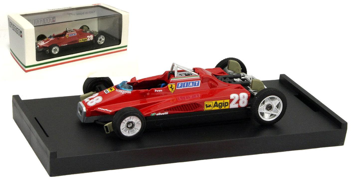 Brumm R268T Ferrari 126C2 (Transport) San Marino 1982 -  D Pironi 1 43 Scale  économiser 35% - 70% de réduction