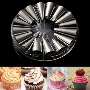 16Pcs Icing Piping Nozzles Tips Cake Decorating Sugarcraft Pastry Baking Tools
