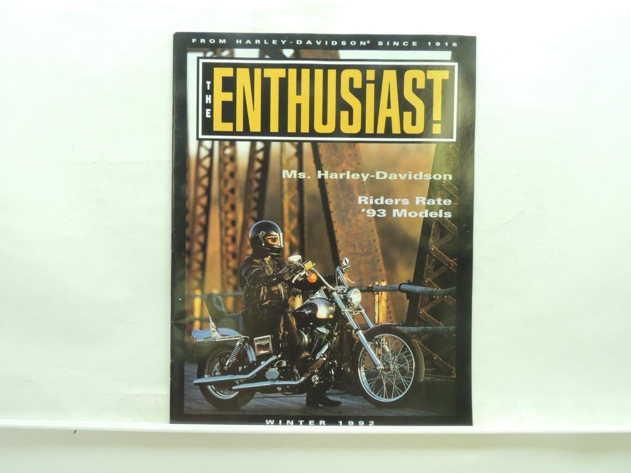 Winter 1992 Enthusiast Magazine Harley-Davidson Softail Low Rider 1200 L5925